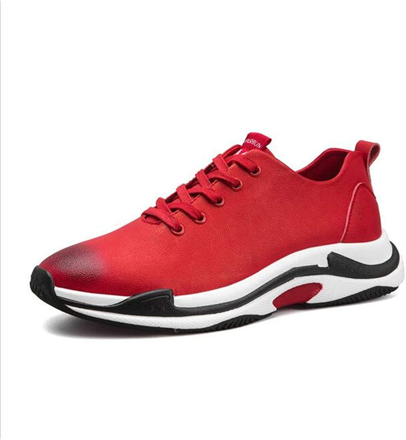Men's shoes Spring Fall Fashion Trend shoes New Leather Sneakers Anti-Slip Lace-up Casual shoes