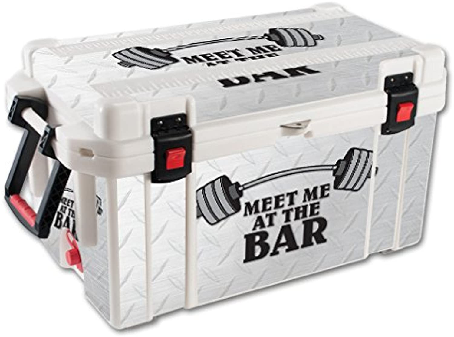 MightySkins Skin Compatible with Pelican 65 qt Cooler – Meet Me at The Bar   Predective, Durable, and Unique Vinyl Decal wrap Cover   Easy to Apply, Remove, and Change Styles   Made in The USA