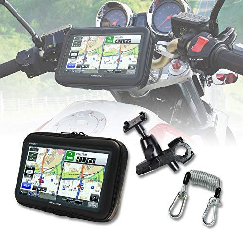 バイク ナビ バイク用 ポータブルナビ 防水 7インチ GPS 2019年版地図 3年 地図更新 オービス タッチパネル...