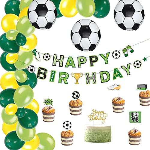 Party Decorations Crazy Football Birthday Full Decorations Set Kids Boy Sports Party Happy Birthday Banner Balloons Cake Topper Baby Shower Favors