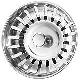 Anpro Tappo filtro lavello cucina in acciaio inox 304 78mm