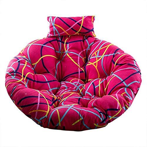 Cojín del asiento de la cesta colgante del columpio, respaldo grueso de la silla Cojines grandes de la silla de Papasan que cuelgan el cojín de la silla del huevo interior al aire libre I 110 * 110cm