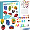 Rock Painting Kit for Kids - 15 Rocks Crafts Set, Arts and Crafts for Boys Girls Ages 5-12, Art Supplies for Painting Rocks, Indoor Outdoor Rock Art Craft Gift Creativity for Kids Hide and Seek