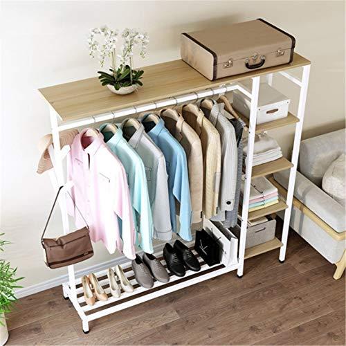 QuRRong Percheros Burro Perchas Coat Rack Piso de pie Simple Dormitorio Moderno Ropa Hogar Bolsa Perchador Simple Almacenamiento Estante para el Dormitorio de la Sala de Estar