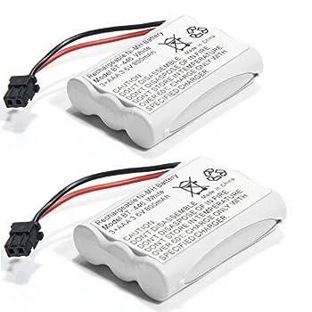 BT-446 Ni-MH Rechargeable Battery for Uniden BT446 BT-1005 TRU9480 TXC-400TCX-80 Radio Shack TAD-3704 TAD-3815 Interstate TEL0375  800mAh 3.6V   2-Pack