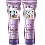 L'Oreal Paris Hair Care EverPure Volume Sulfate Free Shampoo for Color-Treated Hair, Volume + Shine for Fine, Flat Hair, with Lotus Flower, 2 Count (8.5 Fl; Oz each) (Packaging May Vary)