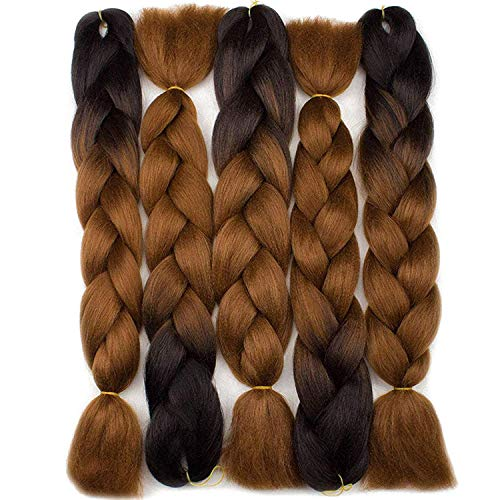 Forevery Braiding Hair Synthetic Ombre Hair Kanekalon Braiding Hair High Temperature Fiber...