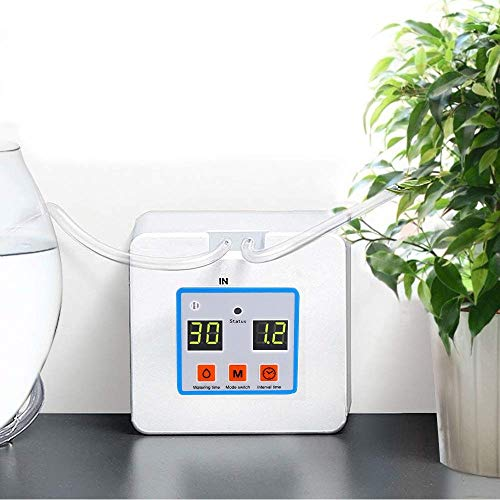 OUTFANDIA Automatic Drip Irrigation Kit,Micro Houseplants Self Watering System Auto & Manual Mode Digital Programmable Water Timer