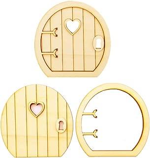 JANOU Wood Fairy Door Miniature DIY Craft Embellishments Gift Ornaments Decoration Pack 6 Sets