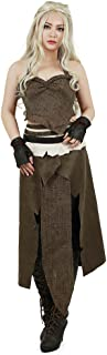 Miccostumes Women's Daenerys Targaryen Brown Cosplay Costume