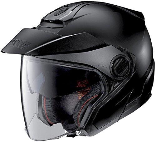 Nolan, N40-5, Classic N-COM FLAT Helmet schwarz, L, N450000270101