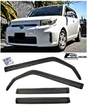 for 2008-2015 Scion xB   EOS Visors JDM in-Channel Style Smoke Tinted Side Vents Window Rain Guard Deflectors