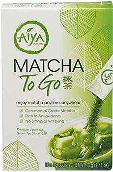 Aiya Matcha to Go Tea Stick Packs 10 count per pack -- 8 per case.