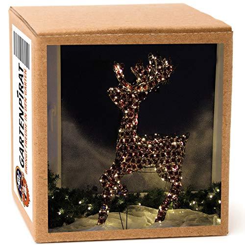 Rentier 90 cm Figur Weihnachten außen mit LED beleuchtet