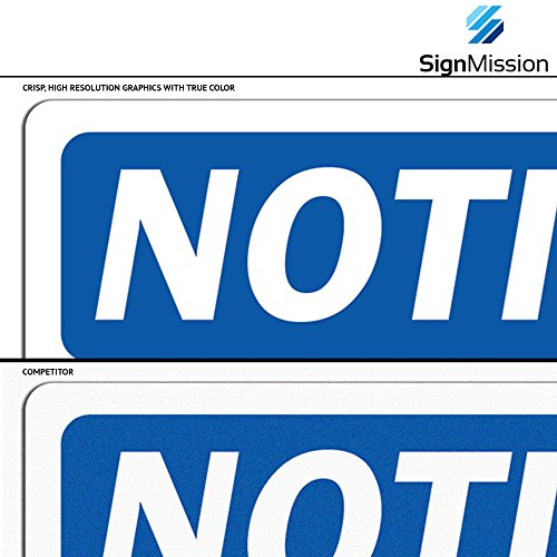 OSHA Notice Sign - No Entry Without Permission | Rigid Plastic Sign | Protect Your Business, Construction Site, Warehouse & Shop Area | Made in The USA Photo #2