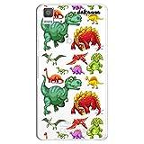 dakanna Funda Compatible con [ Bq Aquaris E5 4G - E5S ] de Silicona Flexible, Dibujo Diseño [ Patrón de Dinosaurio ], Color [Fondo Transparente] Carcasa Case Cover de Gel TPU para Smartphone