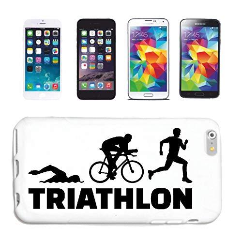 Helene telefoonhoes compatibel met Samsung Galaxy S3 Mini Triathlon Marathon zwemmen lopen fiets hardcase beschermhoes telefooncover Smart Cover