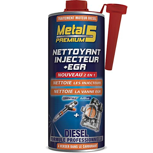 Nettoyant Injecteur + EGR Diesel – 1L – Metal 5 Premium – Nettoie et Élimine les...