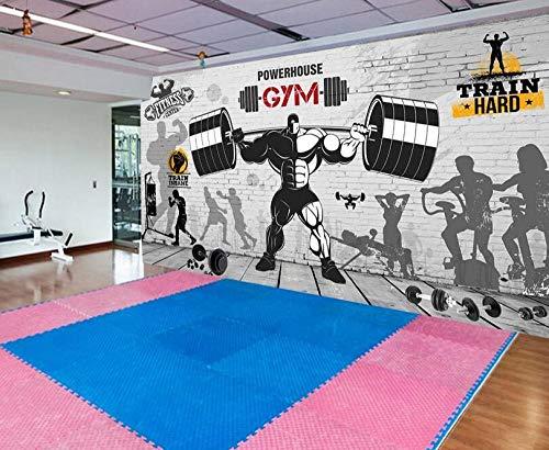 Fotobehang Sport Fitness Club afbeelding muur achtergrond 430 × 300 cm