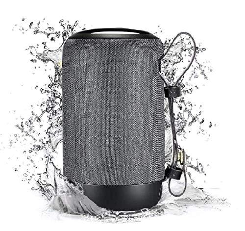Mini Tragbarer Lautsprecher Bluetooth 5.0 Outdoor Klein Radio Musikbox mit TWS Stereo IPX5 Wasserdicht 12 St-Laufzeit für USB/TF/Aux/SD-Karte für Party Zuhause Strand Reisen von VENNERLI