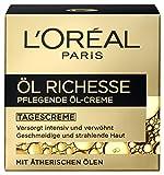 L'Oreal Paris Öl Richesse pflegende Tagescreme, mit Lavendel und Rosmarin, geschmeidige Haut ohne zu fetten, 50 ml