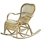 Immo Schaukelstuhl Rocio Natur Rattan Schaukel B106cm Sessel Entspannung Mediterran Sessel Relaxen
