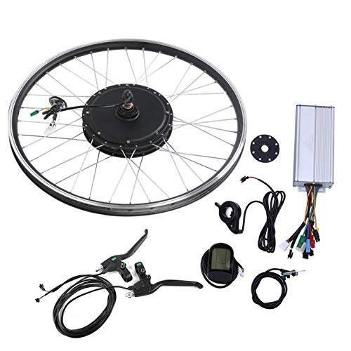 FEBT 700C Rear Wheel Electric Bicycle Conversion Kit, 48V 1000W E-Bike Powerful Hub Motor Kit with Intelligent Controller, E-Bike Conversion Kit for Road Bike