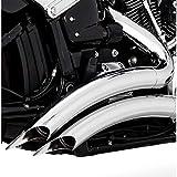 Vance & Hines Big Radius 2 into 2 Exhaust Chrome 26075