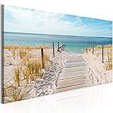 murando Cuadro en Lienzo Playa 135x45 cm 1 Parte impresión en Material Tejido no...
