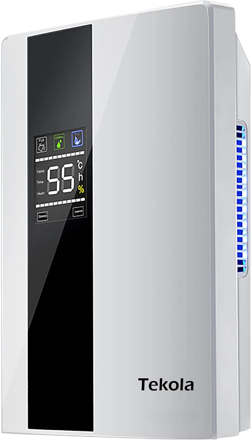 Dehumidifiers for Home, Up to 550 Sq. ft Dehumidifiers for High Humidity with Remote Control, 73oz Ultra Quiet with Two-Mode, Auto Shut Off for Basement, Bathroom, RV, Office