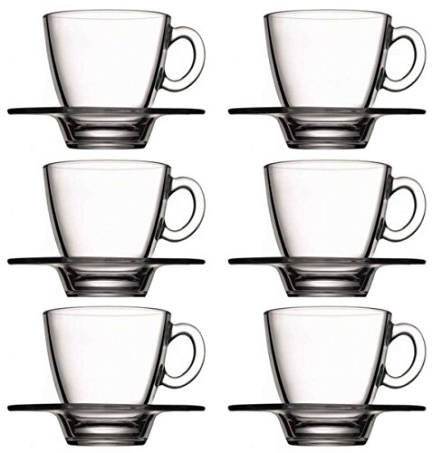 12tlg. Set Espressotassen mit Unterteller Aqua