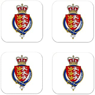 Downey Or Odowney Ireland Family Crest Square Coasters Coat of Arms Coasters - Set of 4