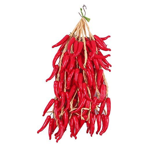 5X Streicher Künstliches Obst Und Gemüse Küchen Wand hängen Dekor - rote Paprika 2, One Size
