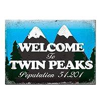 Benvenuti a Twin Peaks Segnalazione A Muro ブリキ看板 メタルサイン ブリキ看板 7.8X11.8インチ