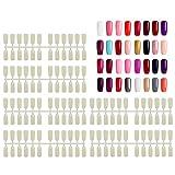 720 piezas de puntas falsas, Segbeauty Nail Flaves Artificial de fondo plano para las uñas Exhibición Libro Polaco Gel Color Carro Manicura Salón Arte Decoración