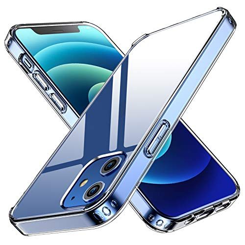 ANEMAT Compatible with iPhone 12 Case, iPhone 12 Pro Case Clear 5G 6.1 inch [Slim Fit] for iPhone 12/iPhone 12 Pro 2020 [Anti-Yellowing] [Shockproof Protective]-Clear