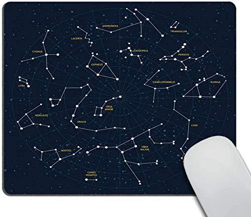 Sky Map Mauspad Benutzerdefiniert,Sternbilder Mauspad Rutschfeste Gummi Gaming Mauspad Mauspads für Computer Laptop-7x8.6in