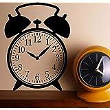 Cwinan 昔ながらの目覚まし時計のデザインビニールステッカー、時計デカールの壁の芸術、子供のための家の装飾子供の寝室、家庭用品42X57Cm