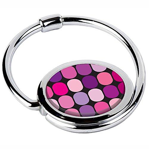Miss Kha– Handtaschenhalter, faltbar, mit rosa 60er-Jahre-Design