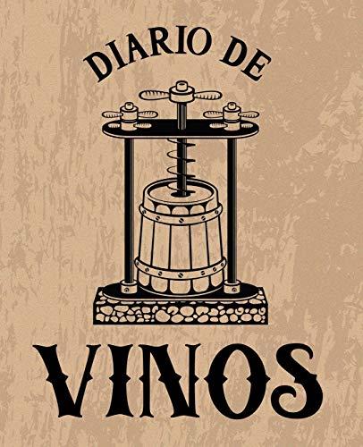 Diario de vinos: Un libro y cuaderno para registrar catas de vino para los amantes del vino marrón 0086