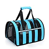 WINNER POP Collapsible Pet Shipping Box - Airline Approved Travel Carrier - Provides Safe and Reliable Travel Methods - Helps Reduce Pet Fear and Anxiety, Pet Portable Handbag, Blue,S