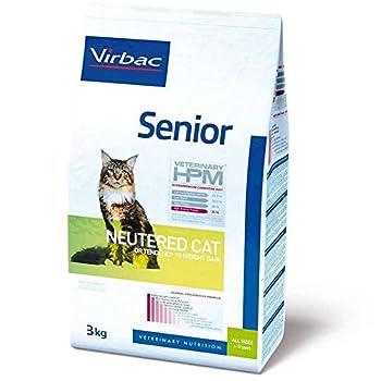 Virbac Vet Hpm Cat Senior Neutered Nourriture 3 kg pour Chat