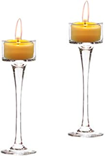 Holiday Tea Light Candle Holder Set of 2 6.5 Inch & 7.5 Inch Wedding Holiday & Party Decor