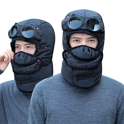 Kikier Sombrero de esquí de invierno a prueba de viento para hombre y mujer