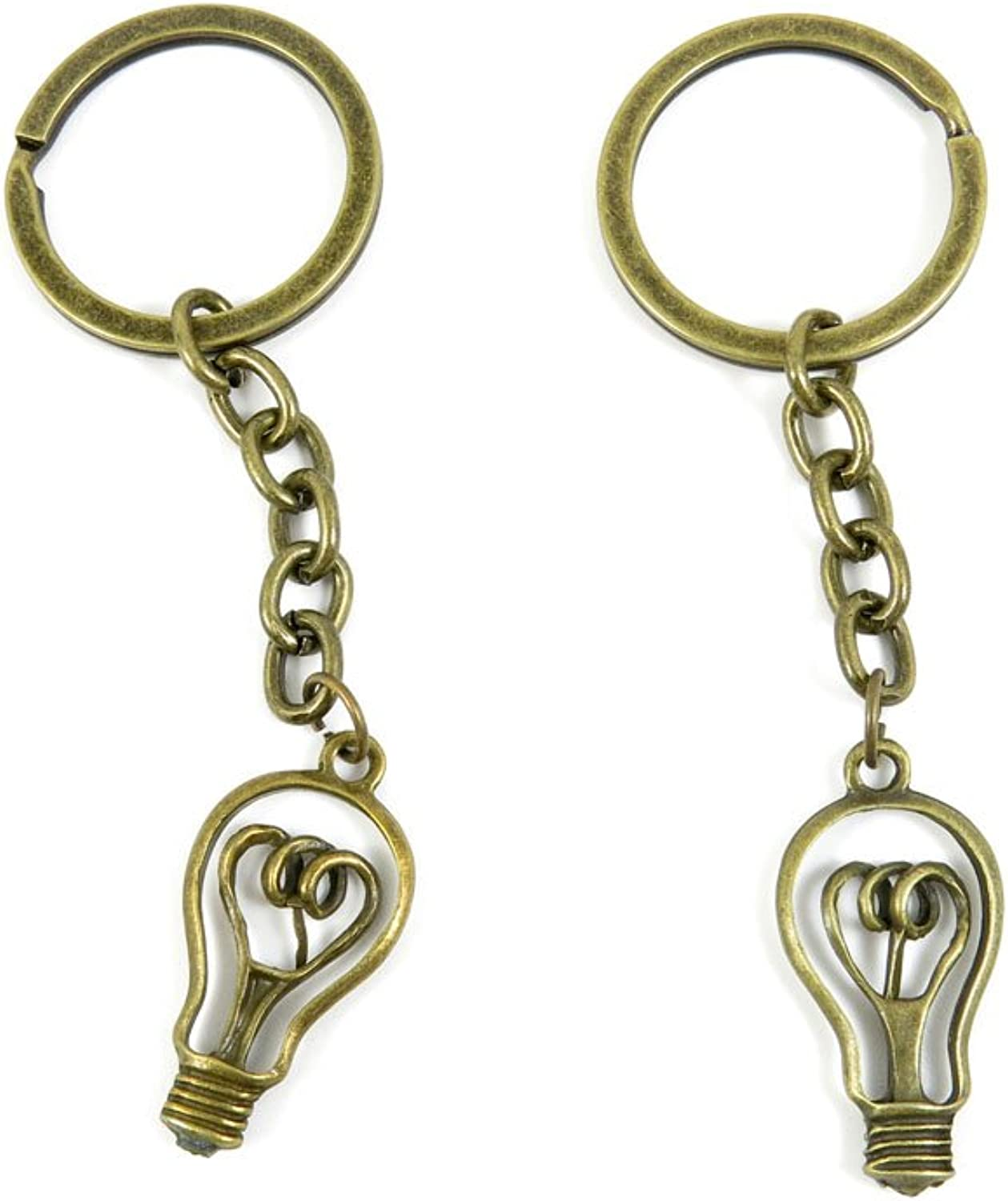 180 Pieces Fashion Jewelry Keyring Keychain Door Car Key Tag Ring Chain Supplier Supply Wholesale Bulk Lots D3PG8 Bulb