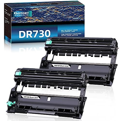GOTOBY Compatible Drum Unit Replacement for Brother DR730 DR 730 DR-730 for HL-L2395DW HL-L2390DW HL-L2350DW HL-L2370DW HL-L2370DWXL MFC-L2710DW MFC-L2750DW MFC-L2750DWXL DCP-L2550DW (2 Drum Unit)