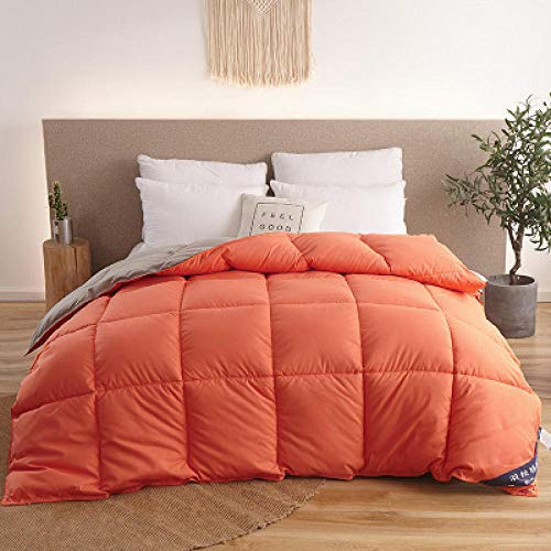 CHOU DAN waterproof duvet protector single Blanket Duvet For Winter/Summer Goose/Duck Down Quilts White Cotton Cover Thicken Comforters King Queen-220 x 240cm 3.0kg_Type 1