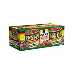 Take your favorite recipe to a bold new level with RO*TEL Original Diced Tomatoes and Green Chilies Vine-ripened tomatoes, zesty green chilies, and a mix of spices are what give RO*TEL Original Diced Tomatoes and Green Chilies its unique zesty fresh-...