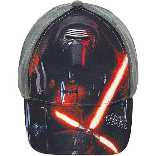Star Wars The Force Awakens Cap, Kappe Cappy Schirmmütze für Kinder, Mädchen und Jungen, mit Klettverschluss Verstellbar in Weiß/Grau (54, Grau)
