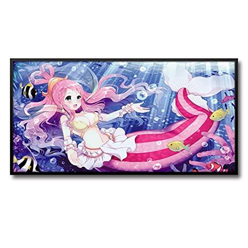 Cherry blossoms Pinturas colgantes de animación de dibujos animados de una pieza, carteles de decoración de sala de estar, dormitorio de los niños decoración de la cabecera, (Color: B)